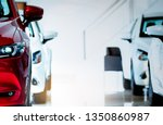 front view of red car. new...   Shutterstock . vector #1350860987