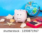 travel and holiday concept ... | Shutterstock . vector #1350871967