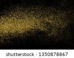 gold glitter halftone dotted... | Shutterstock .eps vector #1350878867
