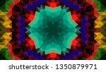 geometric design  mosaic of a... | Shutterstock .eps vector #1350879971