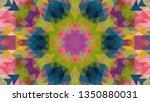 geometric design  mosaic of a... | Shutterstock .eps vector #1350880031