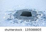 Winter Fishing Hole  Frozen...