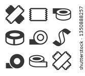 tape icons set on white... | Shutterstock .eps vector #1350888257