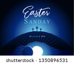 easter sunday holy week  three... | Shutterstock .eps vector #1350896531