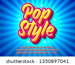 colorful pop art style text... | Shutterstock .eps vector #1350897041