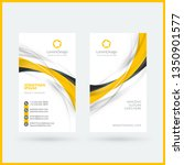 vertical double sided business... | Shutterstock .eps vector #1350901577