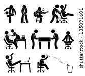 employee worker staff office... | Shutterstock .eps vector #135091601