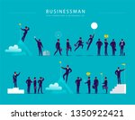 flat illustration with... | Shutterstock .eps vector #1350922421