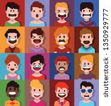 collection of cute avatars 3   Shutterstock .eps vector #1350929777