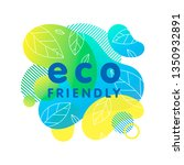 eco friendly concept with... | Shutterstock .eps vector #1350932891