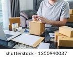 young entrepreneur sme man... | Shutterstock . vector #1350940037