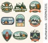 Set Of Summer Camp Badges....
