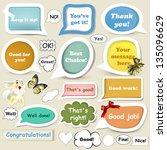 set of vector speech baubles in ... | Shutterstock .eps vector #135096629