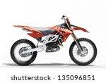 sport bike enduro or trial... | Shutterstock . vector #135096851