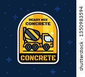 ready mix concrete loader truck ... | Shutterstock .eps vector #1350983594
