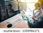 programming and coding... | Shutterstock . vector #1350986171