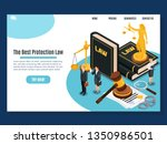 law protection judicial and... | Shutterstock .eps vector #1350986501