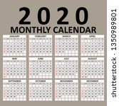 simple 2020 year vector... | Shutterstock .eps vector #1350989801