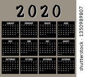 simple 2020 year vector... | Shutterstock .eps vector #1350989807