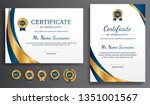 certificate of appreciation... | Shutterstock .eps vector #1351001567