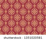 seamless damask pattern. golden ... | Shutterstock . vector #1351020581