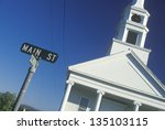 A Sign For Main Street With A...