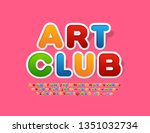vector colorful logo with text... | Shutterstock .eps vector #1351032734