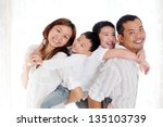 indoor portrait of beautiful... | Shutterstock . vector #135103739