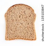 brown bread slice isolated on... | Shutterstock . vector #135103847