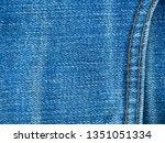 close up  jeans denim texture... | Shutterstock . vector #1351051334