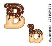 tempting typography. font... | Shutterstock .eps vector #1351054571