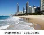 sunny day at the beach  gold...   Shutterstock . vector #135108551