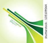 abstract green arrow strips | Shutterstock .eps vector #135109064