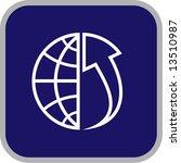 vector globe and array icon....   Shutterstock .eps vector #13510987