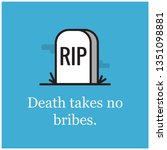 death takes no bribes... | Shutterstock .eps vector #1351098881