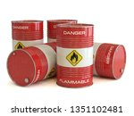 flammable substance red barrels ... | Shutterstock . vector #1351102481
