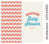 baby shower invitation card... | Shutterstock .eps vector #135110405