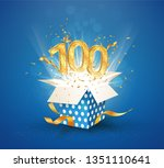 100 th years anniversary and...   Shutterstock .eps vector #1351110641