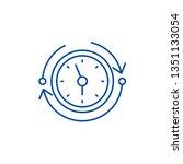 temporary reserves line icon...   Shutterstock .eps vector #1351133054