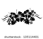 abstract floral composition for ... | Shutterstock .eps vector #135114401