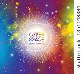 cyberspace and network... | Shutterstock .eps vector #1351148384