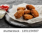 roasted chickpeas falafel... | Shutterstock . vector #1351154507