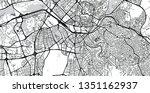 urban vector city map of ankara ... | Shutterstock .eps vector #1351162937