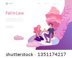 landing page template with... | Shutterstock .eps vector #1351174217