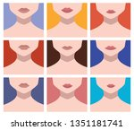 set of young avatar faces | Shutterstock .eps vector #1351181741