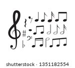 music note icon vector design | Shutterstock .eps vector #1351182554