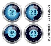 vector timer icons set | Shutterstock .eps vector #135118301