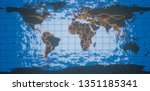 3d rendering. world map of the... | Shutterstock . vector #1351185341