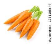 arrots isolated on white... | Shutterstock . vector #1351188644