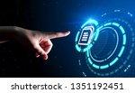 document management data system ... | Shutterstock . vector #1351192451